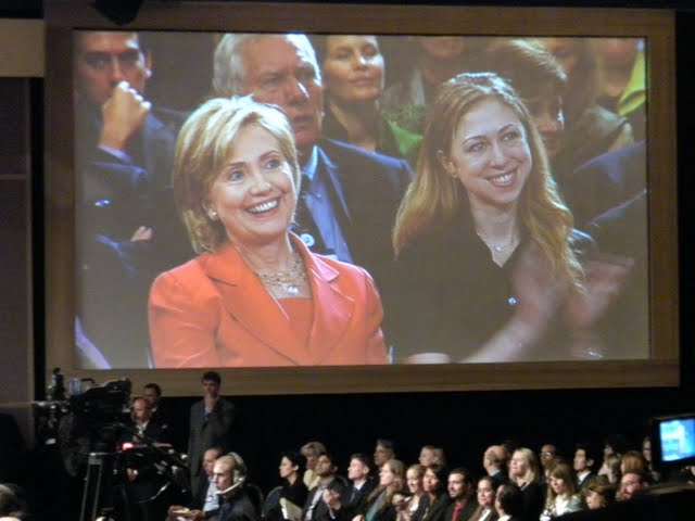 Hillary and Chelsea react to Bill's Introduction of Hillary